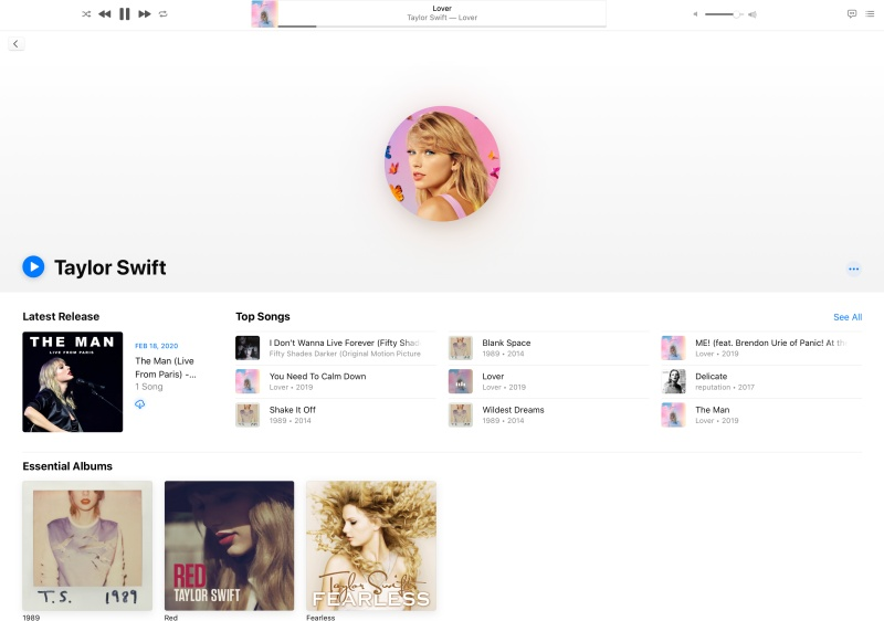 Lover by Taylor Swift on Apple Music